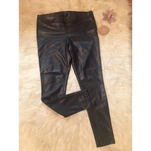 Gap Black Faux Leather Skinny Ankle Leggings